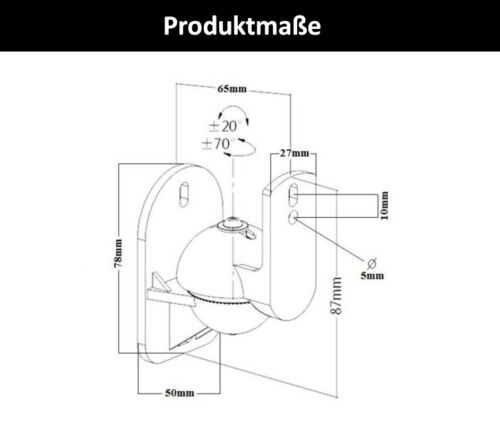 Lautsprecher Wandhalterung passend für PIONEER Boxen Wandhalter Halterung Halter