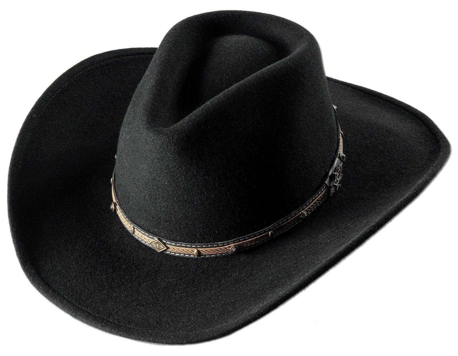Stars & Stripes Westernhut Cowboyhut Damen Herren »LAREDO« Black Größe M