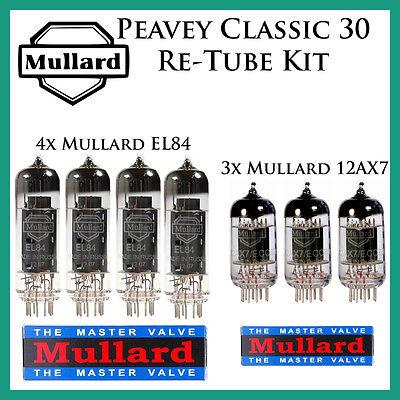 Tube Complement Peavey Classic 30Mullard Upgrade Vox AC30 Retube Kit