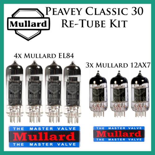 Tube Complement Peavey Classic 30 VoxMullard Upgrade Retube Tube Kit