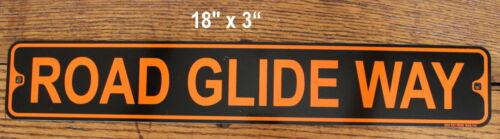 "Metal Street Sign Harley Motorcycle Biker Bar 3/""x18/"" Made in USA Road Glide Way"