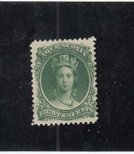NOVA-SCOTIA-MK4561-11-VF-MNH-8-1-2cts-VICTORIA-GREEN-1860-63-CAT-40