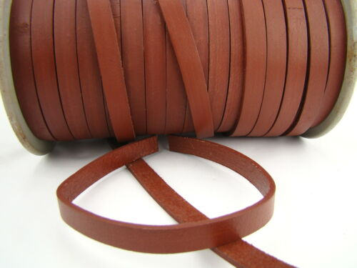 Leather Strap Length Color Selectable Leather Band from 1,8 Flat 10 x 2,5 Mm