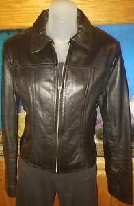 Leather Medium taglia Maxima New Vintage Black Giacca Wilsons 7PF4qxCS