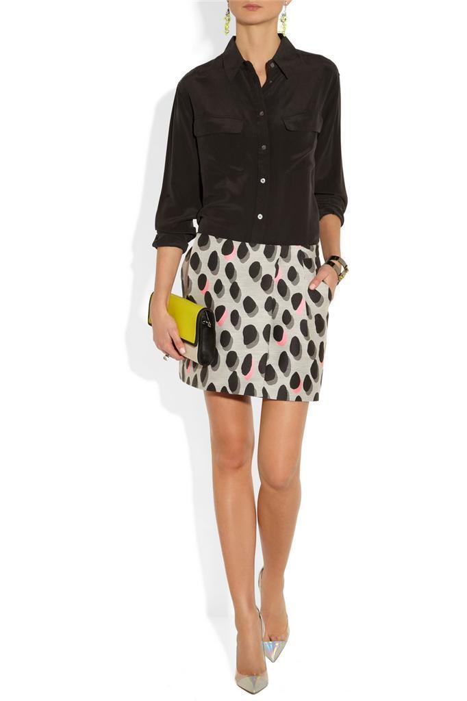 Diane Von Furstenberg Melissa Dots Skirt Size 12 NWT  265