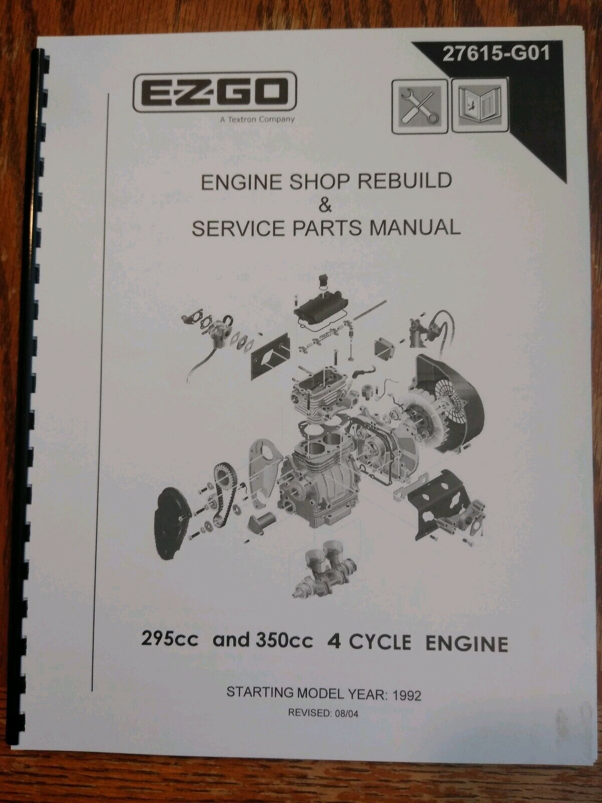 EZGO 28559G01 1999-2000 Service Parts Manual for Gas 1200 Series Workhorse  for sale online   eBayeBay