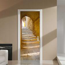 PORTA Adesivi Murali Adesivo Decalcomanie Scalinata in Pietra Office Home Decoration