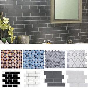 Large 3D Wall Tile Sticker Transfers Kitchen Bathroom ...