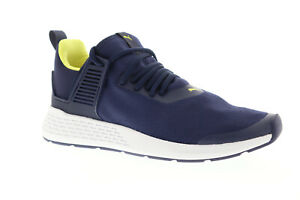 Puma-Insurge-36738508-Mens-Blue-Canvas-Casual-Lace-Up-Low-Top-Sneakers-Shoes