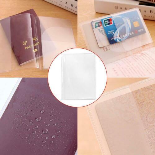 2PCS Clear Transparent Passport Cover Case Management ID Card Travel Protec I7K0