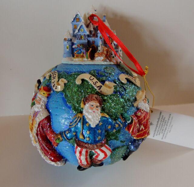 Christopher Radko Santas Christmas Ornament Around the World II Box Tag 2002