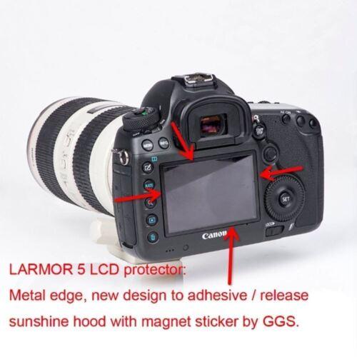 GGS de Larmor 5th Gen Vidrio Protector De Pantalla /& Sombrilla Capucha Set para Nikon D5