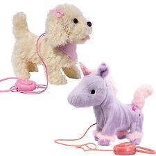 Fluffy Plush Walking & Talking Dog / Unicorn Toy Electronic Pet with Sounds