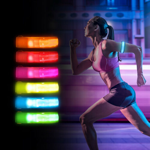 Rechargeable LED Armband Lights Bangle Ankle Lamp For Night Run Walk Safe Gifts