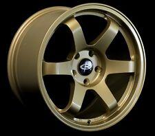 17x90 Rota Grid Wheels 5x1143 Rims 42mm Gold Fits Subaru Sti 2005 2012 Brembo