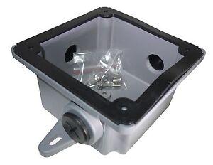 SUNS CB-BX Gray Weatherproof Alarm Bell Back Box