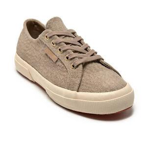 SUPERGA DA DONNA UK 6.5 EU 40 Beige 2750 Scarpe da ginnastica sneakers glitter tyedyelurexw