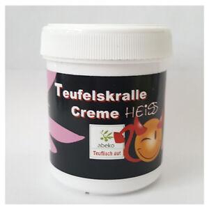 (58,23 EUR/l)  4 x abeko Teufelskralle Creme Heiss! Wärme Salbe Creme