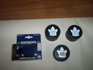 check out a52a9 769b0 Details about Toronto Maple Leafs Zamboni 1:43 Toy & 3 Pucks NHL Canada  Post Stamp Dispensers