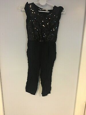 Clothing, Shoes & Accessories Swimwear H&m Black Sequin One-piece Romper Girls Size 1 1/2-2y