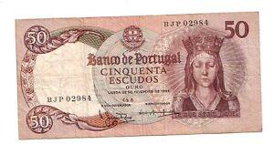 Portogallo-Portugal-50-escudos-1968-pick-179f-BB-VF-lotto-2647