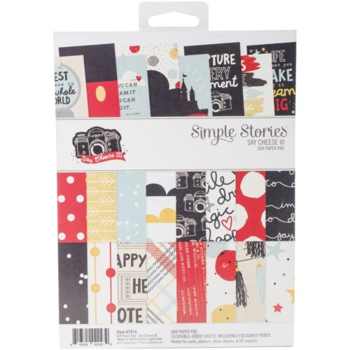 "8 Designs//3 Simple Stories Double-sided Paper Pad 6/""x8/"" 24//pkg-say Cheese Iii"