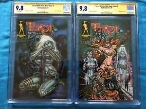 Tarot-Witch-of-the-Black-Rose-3-set-Broadsword-CGC-SS-9-8-Signed-by-Balent