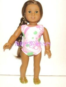 Pink-Flower-Swimsuit-18-in-Doll-Clothes-Fits-American-Girl