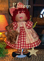 Primitive Patti's Ratties Raggedy Annie Rag Ann Doll Paper Pattern 508
