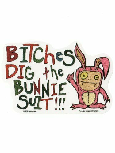 """LOL Bitches Dig Bunny Suit STICKER Decal 5 3//8/""""x3 1//2/"""" Vinyl Die-Cut Agorables"""