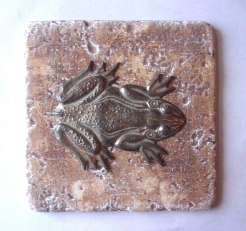 "Frog tile mold plaster cement  travertine casting mould  6/"" x 6/"" x 1//3/"" thick"
