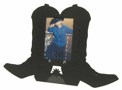 Cowboy Boots 2x3 Vertical Black Metal Picture Frame