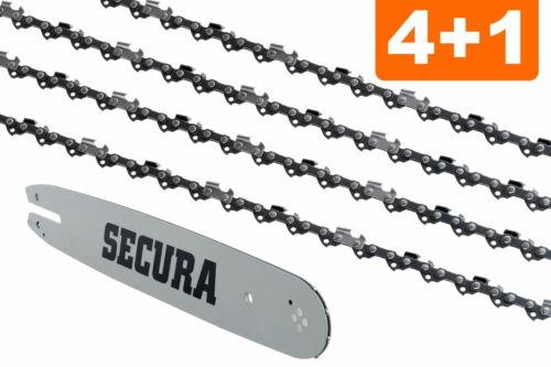 Schwert passend für Husqvarna 371 XP43cm 3//8 64TG 1,5mm 4 Sägeketten VM