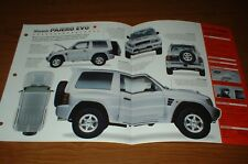 1998 Mitsubishi Pajero Evo Original Imp Brochure Specs Info 98 97 96 95 Fits 1998 Mitsubishi