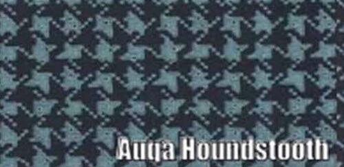1967 CHEVELLE VINYL TRUNK MAT AQUA w//BLACK HOUNDSTOOTH PATTERN