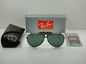 2ced3e614b6 RAY-BAN BLAZE SHOOTER SUNGLASSES RB3581N 001 71 GOLD GREEN CLASSIC ...