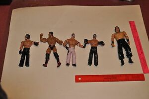 JAKKS-PACIFIC-WWE-WWF-DELUXE-AGGRESSION-ACTION-FIGURE-2005-FIVE-OF-THEM