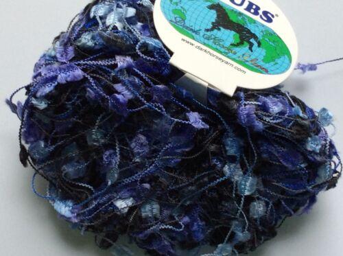 Purple Blue Black Grey Butterfly Yarn Dark Horse Nubs #65 Flag 20 Gram 71 Yards