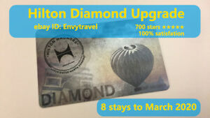 Hilton Diamond membership Honors(90 days trial , can be extended to Mar 2020)