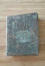 Vintage Huot Drill Index St Paul Pat 1930617 Older Case Only