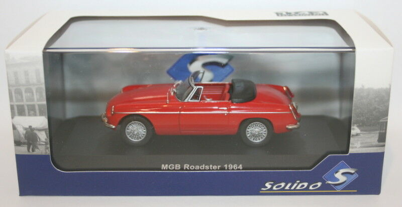Solido 1 43 Scale diecast - S4301200 - 1964 MG B Congreenible - Red