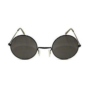 07ad6d78ec5 Image is loading John-Lennon-Sunglasses-Round-Hippie-Retro-Black-Frame-