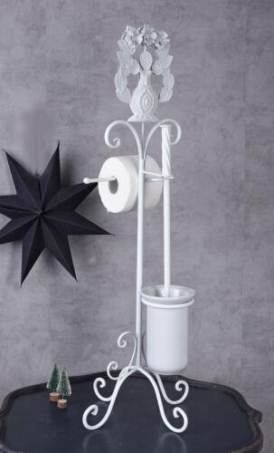Toilettenpapierhalter Shabby WC Börste Börstengarnitur 2in1 Ständer Rollenhalter