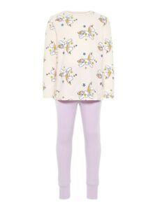 NAME-IT-Maedchen-Pyjama-Schlafanzug-rosa-lila-Einhorn-Groesse-86-bis-110