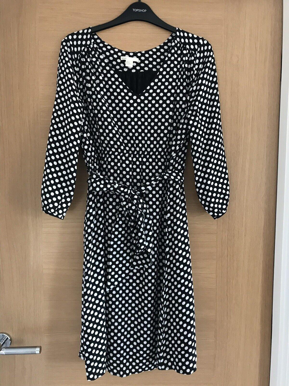 bc386448b98b5 H&M Mama Maternity Dress Polka Dot Size Medium | eBay