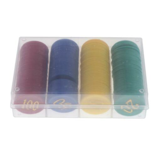 160 Counters Counting Chips Plastic Markers Mixed Colors for Game Tokens