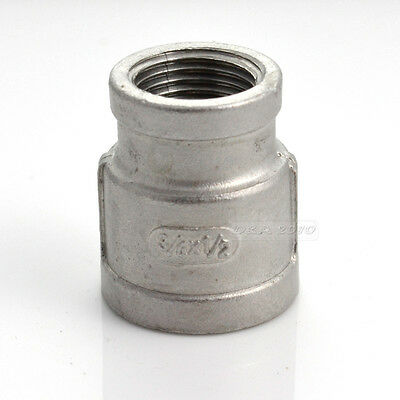 Female Nipple Threaded Reducer Pipe Fitting Stainless Steel 304 BSP NEW