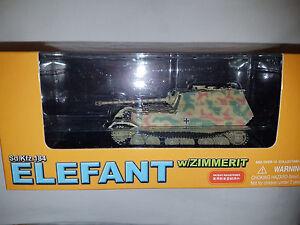 Carro-Armato-Sd-Kfz-184-Elefant-w-ZIMMERIT-Scala-1-72-Die-Cast-Dragon-Nuovo