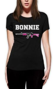 Bonnie-Women-T-Shirt-Clyde-Matching-Couple-For-Valentine-039-s-Day-Romantic-Love-Tee