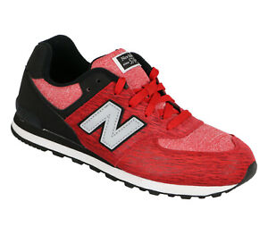 NEW-BALANCE-574-Running-Shoes-sz-6-5Y-Red-Black-Sweatshirt-Collection-Youth-GS